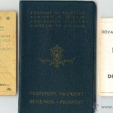 Documentos antiguos: PASAPORTE DE BÉLGICA Y OTROS DOCUMENTOS. Lote 51377088