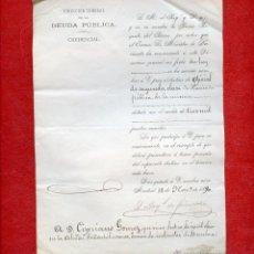 Documentos antiguos: 1890 CREDENCIAL REAL NOMBRAMIENTO OFICIAL SEGUNDA CLASE DE HACIENDA MADRID. Lote 51382310