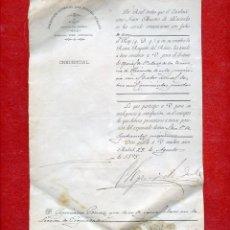 Documentos antiguos: 1893 CREDENCIAL REAL NOMBRAMIENTO OFICIAL PRIMERA CLASE HACIENDA MADRID. Lote 51382334