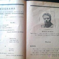 Documentos antigos: 1937 MITING CONCERT COMITE DONES CONTRA FEIXISME GUERRA CIVIL SILVESTRE REVUELTAS LEAR MEXICO MEJICO. Lote 51403638