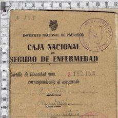 Documentos antiguos: INSTITUTO NACIONAL DE PEVISION-CAJA NACIONAL DE SEGURO DE ENFERMEDAD.. Lote 51508361