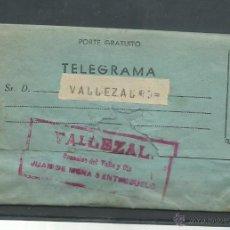 Documentos antiguos: LOTE DE 3 TELEGRAMAS DE MADRID A VALLEZAL DEL 28 - 3-1933 Y 4 Y 18 - 5 1933. Lote 51550171