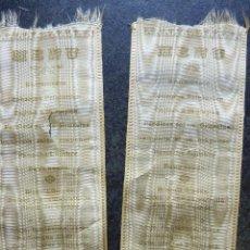 Documentos antiguos: LOTE 2 ANTIGUO MENU DE RESTAURANTE HOTEL SANTO DOMINGO MANRESA . AÑO 1908 TELA SEDA 14 / 6 CM. Lote 171472510