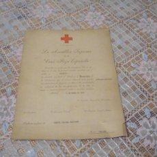 Documentos antiguos: DIPLOMA DE SOCORRISTA DE LA CRUZ ROJA 1974. Lote 51667283