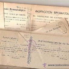 Documentos antiguos: LORCA (MURCIA) - LOTE 3 TALONARIOS DE RECIBOS MUNICIPALES SIN USAR AÑOS 1924 Y AÑOS 40. Lote 52001930