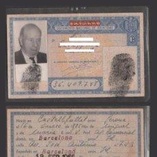 Documentos antiguos: DNI 36.409.758 C10-2 CARNET DE IDENTIDAD DE BARCELONA EXPEDIDO EL 18 - DE FEBRERO DE 1966.. Lote 38760521