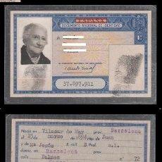 Documentos antiguos: DNI 37.897.911 - C10-2 - CARNET DE IDENTIDAD EXPEDIDO BARCELONA EL 27 DE MARZO DE 1965- PERTENECI. Lote 48595562