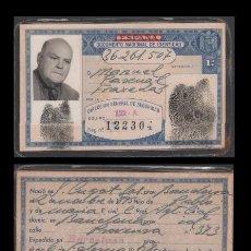 Documentos antiguos: DNI 36.261.507 - C10-2 - CARNET DE IDENTIDAD EXPEDIDO BARCELONA EL 6 DE FEBRERO DE 1968- PERTENECI. Lote 52014716