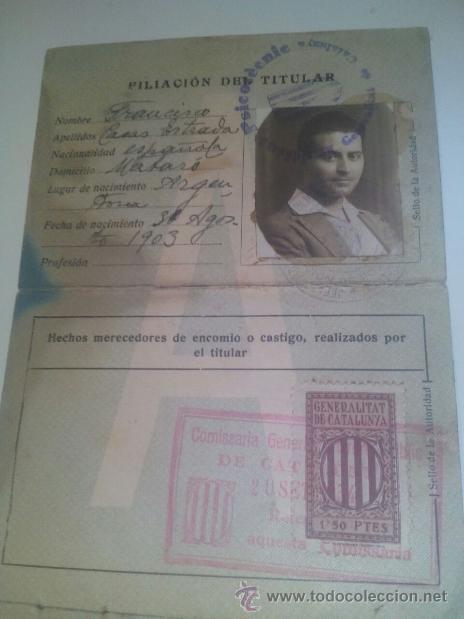 CARNET SEGUNDA CLASE / VEHÍCULOS DE MOTOR MECÁNICO / BARCELONA 1928 (Coleccionismo - Documentos - Otros documentos)