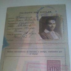 Documentos antiguos: CARNET SEGUNDA CLASE / VEHÍCULOS DE MOTOR MECÁNICO / BARCELONA 1928. Lote 52025023