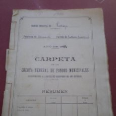 Documentos antiguos: CUENTA GENERAL DE FONDOS MUNICIPALES, AYUNTAMIENTO DE POLOP, PARTIDO DE CALLOSA, ALICANTE, 1914. Lote 52281977
