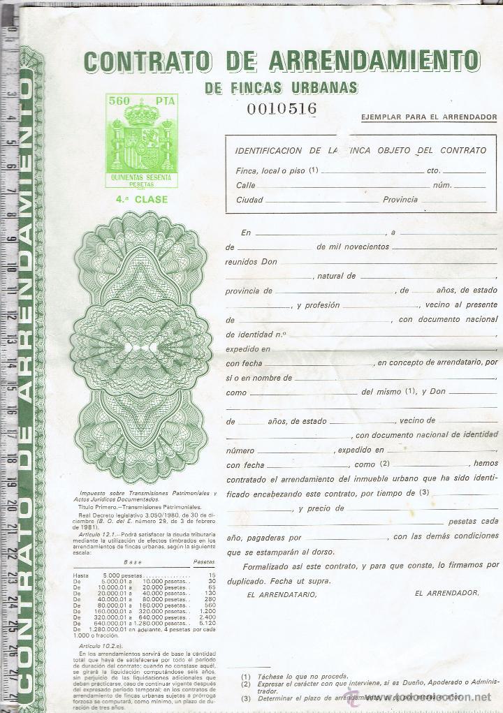Contrato de arrendamiento de fincas urbanas 4 c comprar for Contrato documento