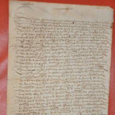 Documentos antiguos: MANUSCRITO DOCUMENTO DE VENTA DE 1557. Lote 52364545