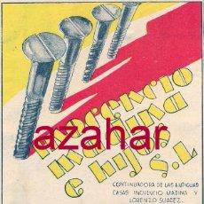 Documentos antiguos: PUBLICIDAD, RECORTE PRENSA MUY ANTIGUO,INOCENCIO MADINA E HIJOS,PLASENCIA,GUIPUZCOA,104X134MM. Lote 52379304