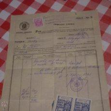 Documentos antiguos: PASE PARA IMPORTACION TEMPORAL.ADUANA DE ALGECIRAS.PROVINCIA DE CADIZ.1961. Lote 52419605