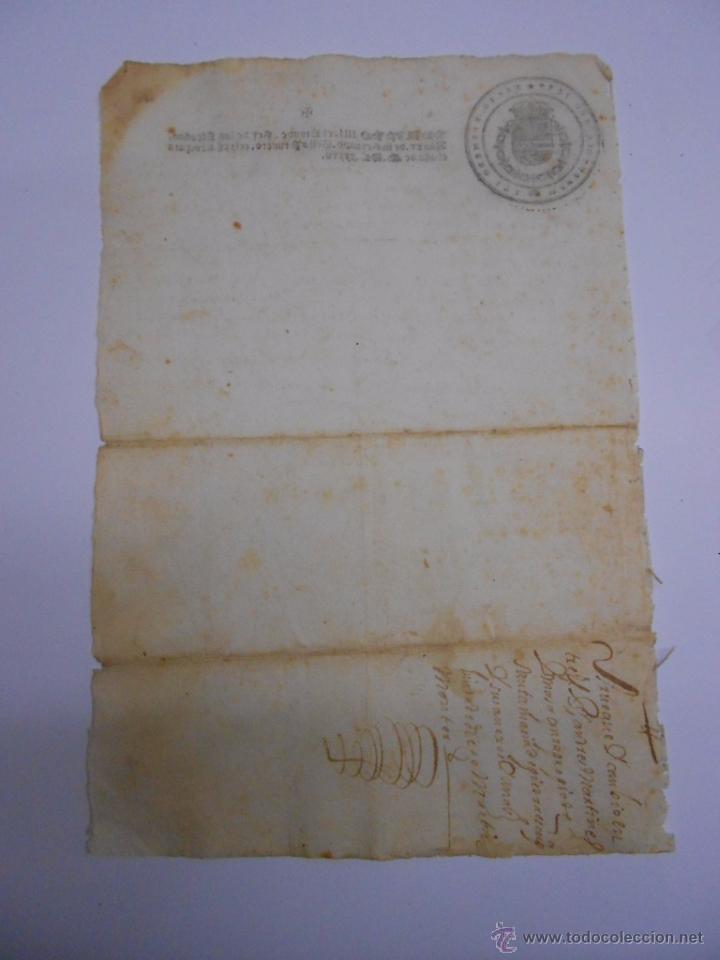 Documentos antiguos: PAPEL FISCAL.SELLO PRIMERO DEL AÑO 1637.FELIPE IV.PRIMER PAPEL SELLADO EN ESPAÑA.272 MARAVEDIES - Foto 4 - 52499120