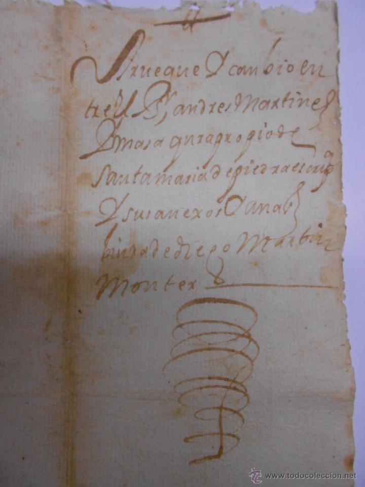 Documentos antiguos: PAPEL FISCAL.SELLO PRIMERO DEL AÑO 1637.FELIPE IV.PRIMER PAPEL SELLADO EN ESPAÑA.272 MARAVEDIES - Foto 5 - 52499120