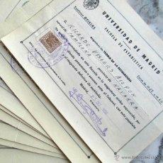 Documentos antiguos: 12 PAPELETAS DE EXAMEN UNIVERSIDAD DE MADRID 1959-1961 ESCUELA DE ESTADÍSTICA. Lote 52556040