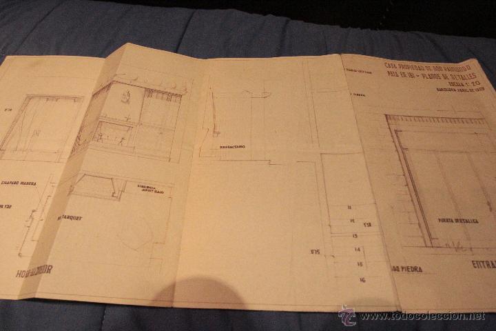 PLANO CASA PROPIEDAD RAIMUNDO PAYA, IBI, 1959, PAYA HERMANOS (Coleccionismo - Documentos - Otros documentos)