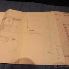 Documentos antiguos: PLANO CASA PROPIEDAD RAIMUNDO PAYA, IBI, 1959, PAYA HERMANOS. Lote 52610266