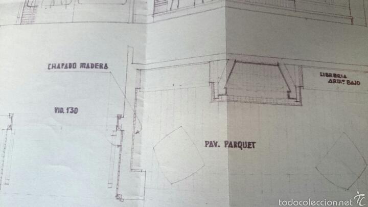 Documentos antiguos: PLANO CASA PROPIEDAD RAIMUNDO PAYA, IBI, 1959, PAYA HERMANOS - Foto 4 - 52610266