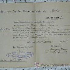 Documentos antiguos: CALASPARRA HEREDAMIENTO DE ROTAS 1903 MURCIA. Lote 52617044