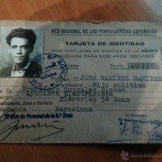 Documentos antiguos: 1950 CARNET RED NACIONAL DE FERROCARRILES ESPAÑOLES. Lote 52674909
