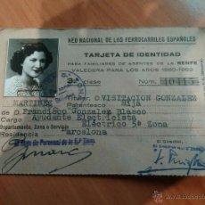 Documentos antiguos: 1950 CARNET RED NACIONAL DE FERROCARRILES ESPAÑOLES. Lote 52674916