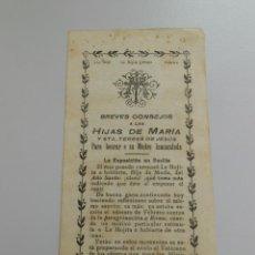 Documentos antiguos: BREVES CONSEJOS A LAS HIJAS DE MARIA Y SANTA TERESA DE JESUS. TDKP6. Lote 52693324