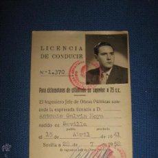 Documentos antiguos: LICENCIA DE CONDUCIR DE 1958 PARA CICLOMOTORES DE CILINDRADA NO SUPERIOR A 75 CC. Lote 52727106