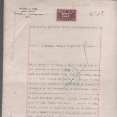 Documentos antiguos: TCAR.MUS - 12 - CUBA - ESCRITURA DE CONSTITUCION DE LA SOCIEDAD MERCANTIL CALZADILLA Y CANOSSA. Lote 52936083