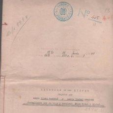 Documentos antiguos: CAR-MUS-13- RARA ESCRITURA DE ABINTESTATO, DE 6 HOJAS - AUTORIZADA POR EL JUEZ D. CARLOS Mª GARCIA. Lote 52936261