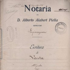 Documentos antiguos: CAR-MUS - 14 - ESCRITURA DE VENTA, DE 6 HOJAS,- OTORGADA EN LA NOTARIA DE ESPARRAGUERA DE ALBERTO A. Lote 52950204