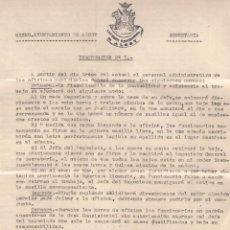 Documentos antiguos: AYUNTAMIENTO DE ALCOY. SECRETARÍA . FECHA: 9-10-1941. Lote 52952195