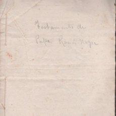 Documentos antiguos: CAR-MUS-2 - LA HABANA (CUBA) - ESCRITURA DE TESTAMENTO DE D. RAMON NEGRA Y CASANOVAS NATURAL DE CA. Lote 52957137