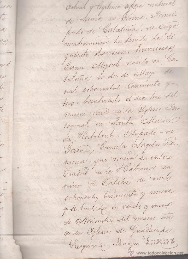 Documentos antiguos: CAR-MUS-2 - LA HABANA (Cuba) - Escritura de Testamento de D. RAMON NEGRA Y CASANOVAS natural de CA - Foto 4 - 52957137