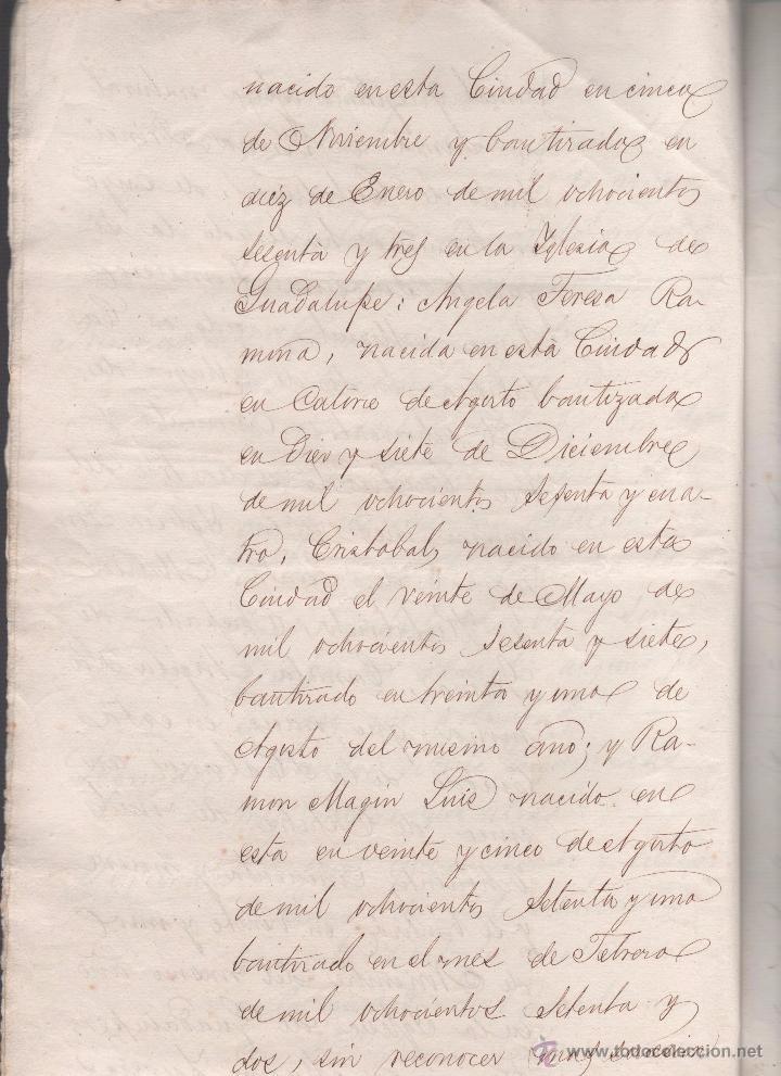 Documentos antiguos: CAR-MUS-2 - LA HABANA (Cuba) - Escritura de Testamento de D. RAMON NEGRA Y CASANOVAS natural de CA - Foto 5 - 52957137