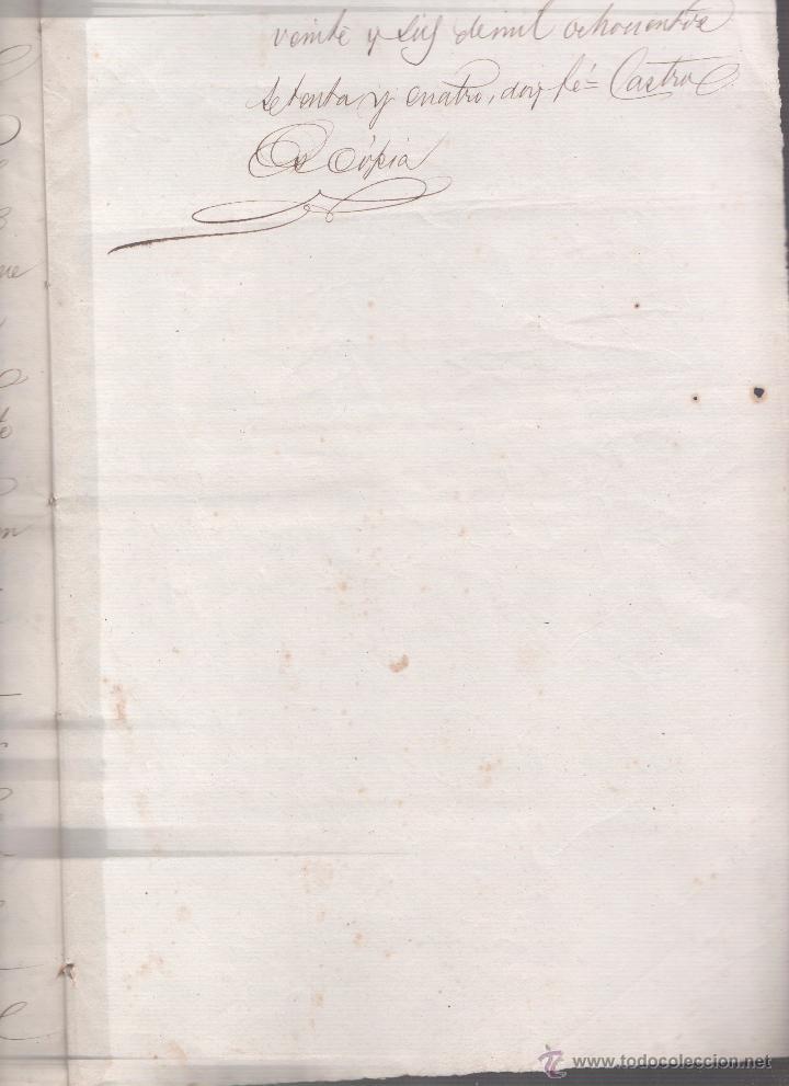 Documentos antiguos: CAR-MUS-2 - LA HABANA (Cuba) - Escritura de Testamento de D. RAMON NEGRA Y CASANOVAS natural de CA - Foto 10 - 52957137