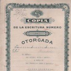 Documentos antiguos: CAR-MUS - 7 -HABANA (CUBA) ESCRITURA DE PODER GENERAL DE D. HIGINIO NEGRA Y MANSIO OTORGADA EL 8 DE . Lote 52958443