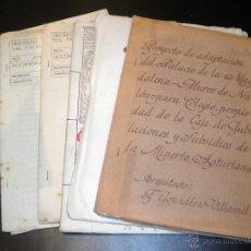 Documentos antiguos: ARQUITECTOS / FRANCISCO Y FEDERICO SOMOLINOS / F. GONZALEZ VILLAMIL / PALACIO DE LA MAGDALENA 1946 . Lote 52958917
