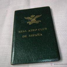 Documentos antiguos: TARJETA SOCIO REAL AERO CLUB DE ESPAÑA .AÑO 1959 MADRID. Lote 52969096