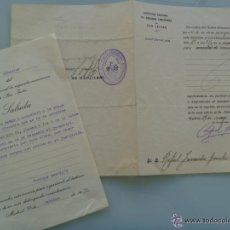 Documentos antiguos: REPUBLICA , INSTITUTO SAN ISIDRO DE MADRID : LOTE DOS DOCUMENTOS , 1935 Y 36 .. Lote 52990225