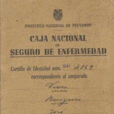 Documentos antiguos: == CM84 - INSTITUTO NACIONAL DE PREVENCIO - CAJA NACIONAL DE SEGURO DE ENFERMEDAD - ALTA 1944. Lote 53010178