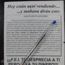 Documentos antiguos: OCTAVILLA ANTI-FALANGE CONTRARIA A FEI. FRANQUISTA. . Lote 53103658