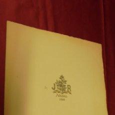 Documentos antiguos: FELICITACIÓ NADALENCA . JAUME ROSQUELLES I ALESSAN. ANY 1946. LLEGIR INTERIOR. . Lote 53110174