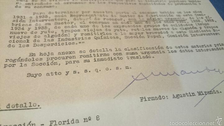 Documentos antiguos: INDUSTRIA PAPELERA Y TEXTIL, CONSUMO AÑOS 1931 al 1935, Propuesta 1941. tabla detallada, DIFCIL!! - Foto 2 - 53129514