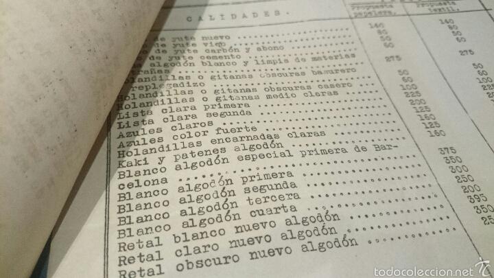 Documentos antiguos: INDUSTRIA PAPELERA Y TEXTIL, CONSUMO AÑOS 1931 al 1935, Propuesta 1941. tabla detallada, DIFCIL!! - Foto 3 - 53129514