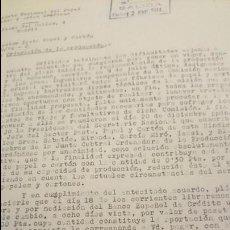 Documentos antiguos: SINDICATO NACIONAL DEL PAPEL, ORDENACION DE PRODUCCION, 1943. Lote 53129527