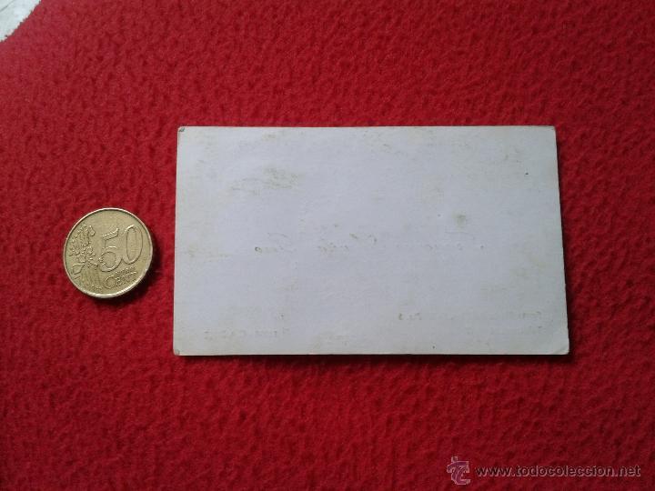 Documentos antiguos: CURIOSA TARJETA CARD DE VISITA PUBLICIDAD PUBLICITARIA O SIMILAR REAL BETIS BALOMPIE CONSUL EN CADIZ - Foto 2 - 53201916