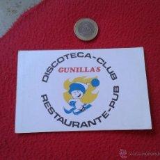 Documentos antiguos: ANTIGUA TARJETA DE VISITA CARD PUBLICIDAD ENTRADA O SIMILAR DISCOTECA CLUB GUNILLA'S SIERRA NEVADA . Lote 53255371